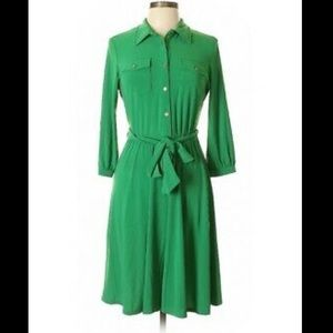 ny collection • Green mid length shirt dress